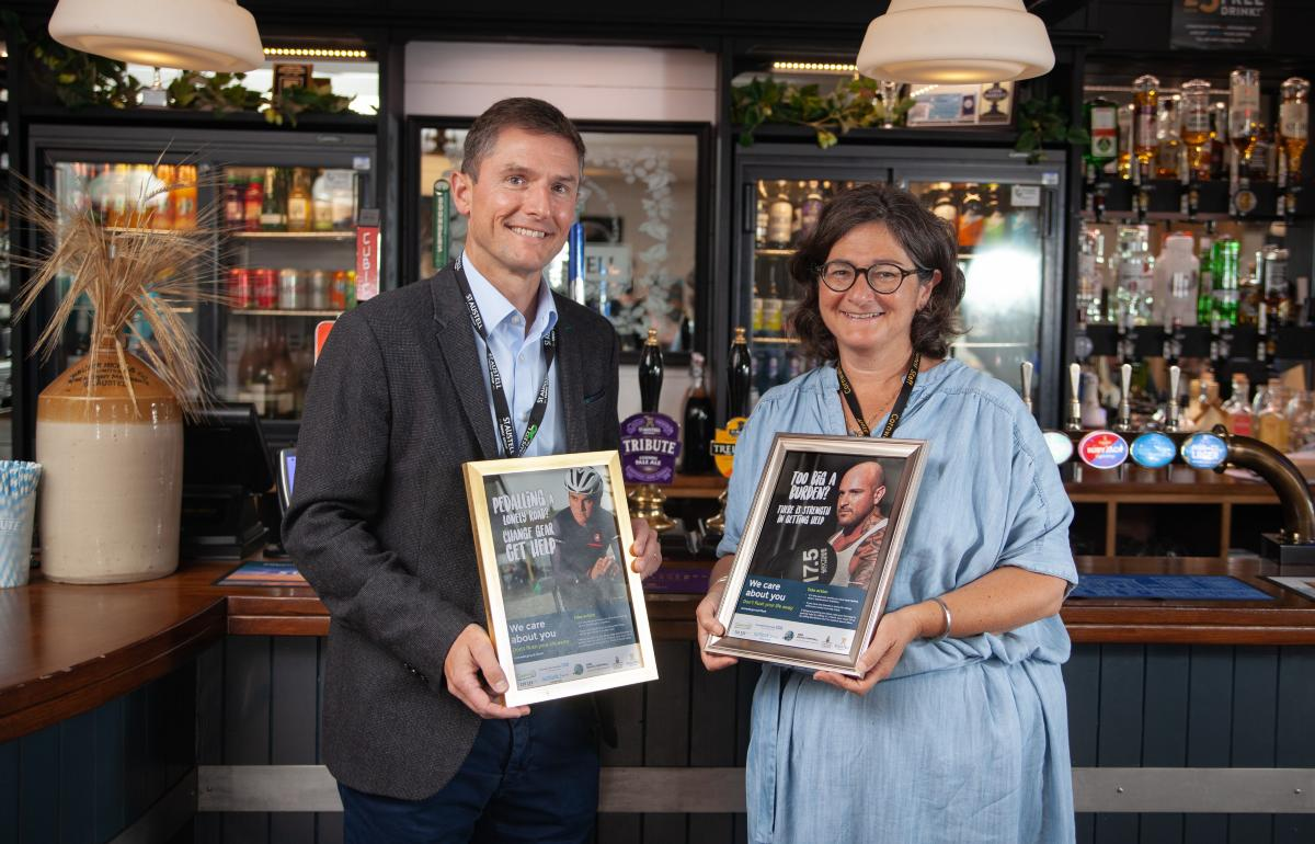 Don't Flush Your Life Away campaign launches in St Austell Brewery pubs across Cornw